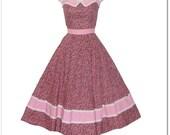 Vintage 70s Calico Full Circle Prairie Country Sun Dress XS