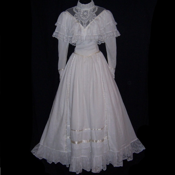 Vintage Wedding Dresses 80s: Vintage 80s Gunne Sax Southern Belle Civil War Style Wedding