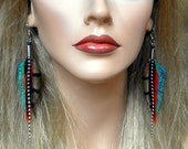 Day Tripper Feather Earrings- Ready to Ship