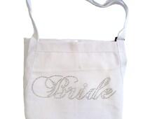 Rhinestone Bride Apron - Fancy Bride Font