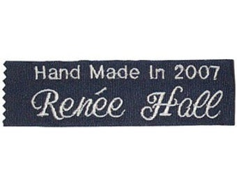 Personalized Embroidered  Quilt Labels (SINGLE - ONE LABEL)