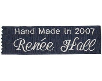 Personalized Quilt Labels (set of two) - Embroidered and Personalized