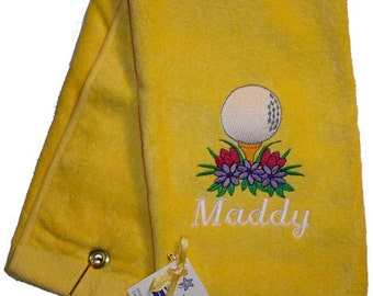 Custom Embroidered Personalized Golf Towel For Her