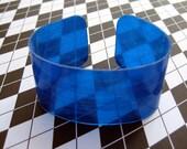 Vinyl Record Cuff Bracelet - Blue Vinyl