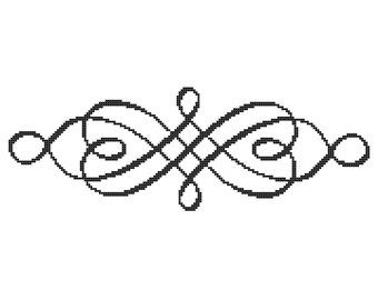 Scroll 1 PDF Cross Stitch Pattern