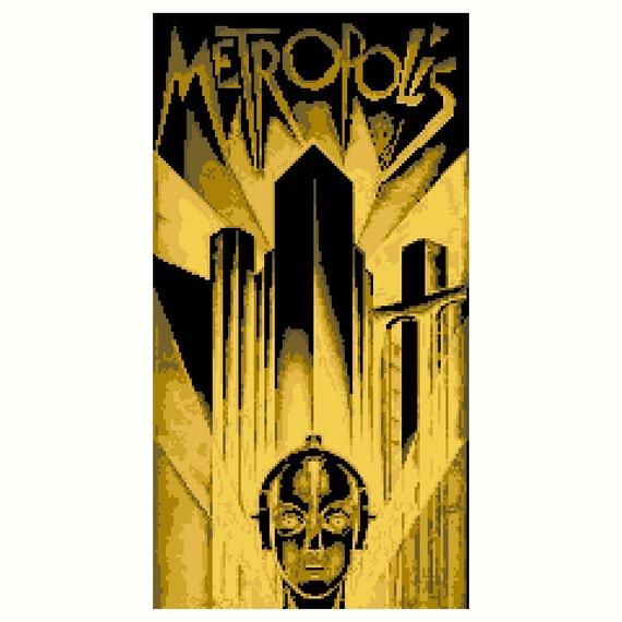Metropolis Simplified Yellow PDF Cross Stitch Pattern