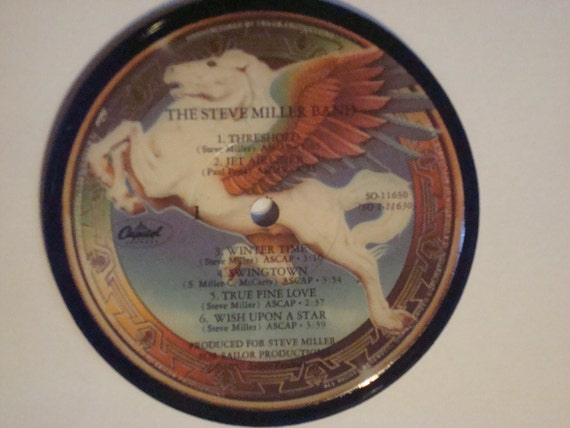 Original Handmade Record Album Coaster - Steve Miller Band