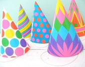 RESERVED for salvagelife... Party Animal... Fun Vintage Beistle Paper Party Hats  the whole stash