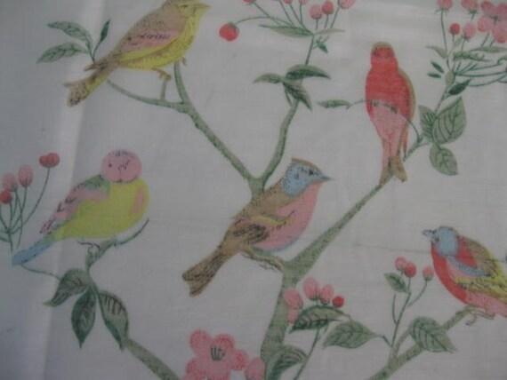 Curtains Ideas bird shower curtain : Song Birds Singing in the Shower... Vintage Bird Bathroom