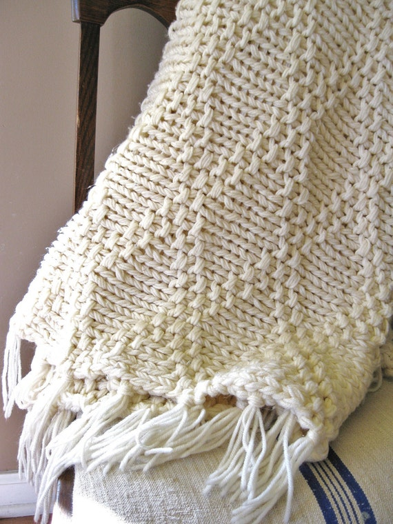 handmade afghan blanket for sale sale cozy vintage handmade chunky knit afghan with 5631