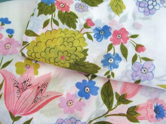 Raise the Curtain... Vintage Floral Sheer Fabric Curtain Drape Panels
