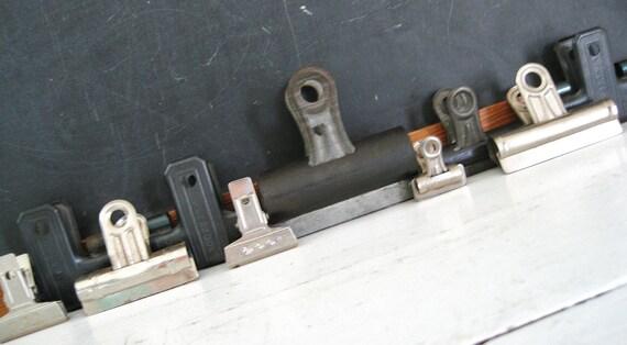 Working 9 to 5... .Vintage Lot of 10 Industrial Metal Binder Office Paper Clips
