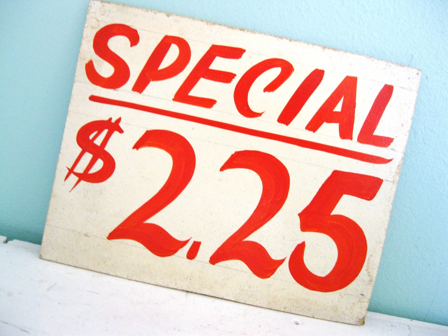 Store Tags: Give Me A Sign... Vintage Wooden Grocery Store Price Tag Sign