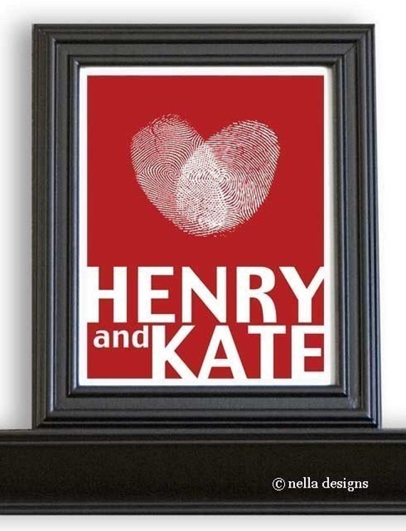 Personalized Love Silhouette Print with date