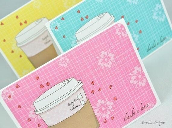 Thanks a Latte Note Card Set