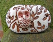 Wise Little Owl Connector - Faux Ceramic Savanna
