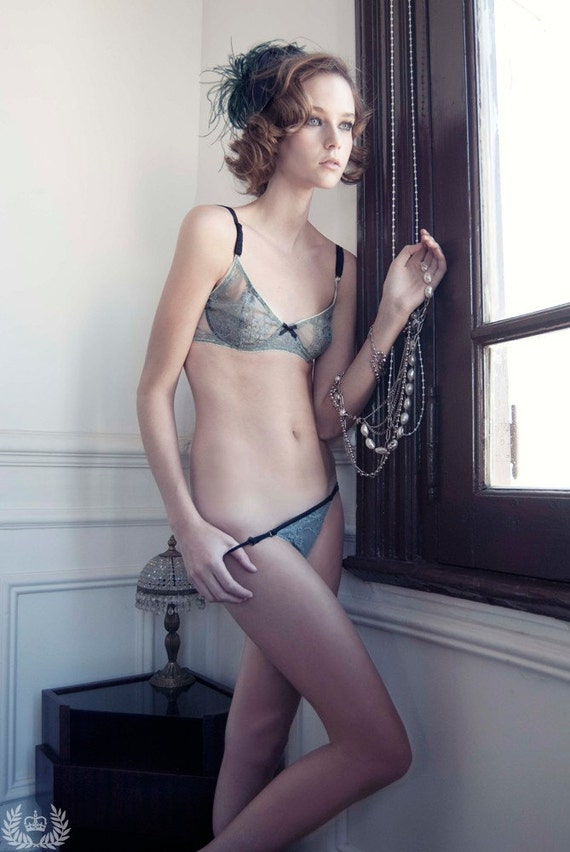 Grey Lace set , intense winter collection 2010