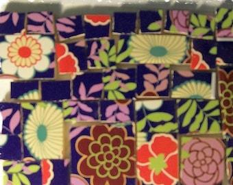 Mosaic Tiles - - Big Bold - FUNKY FLOWERS - -  40 Lg MOSAIC Focal Tiles