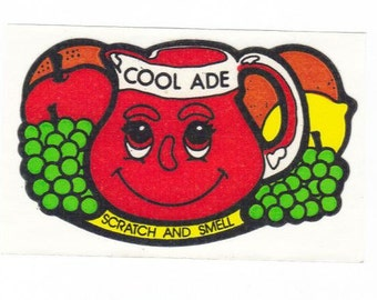 Vintage 80's Mello Smellos Scratch and Sniff Sticker COOL ADE S1