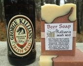 Killian's Irish Red Beer Soap- Perfect for your Beer lover, groomsmen, crafted with Australian Red Clay- looks like a mug of beer