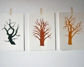 Silhouette Tree collection - special set - 3 screen prints