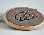 Root Tree IV - mixed media embroidery art