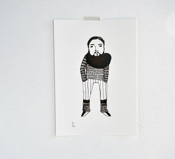 The Scarf - gocco print
