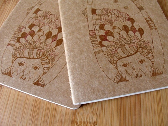 journal - - Madame Piri Piri - - Large (brown) - ruled