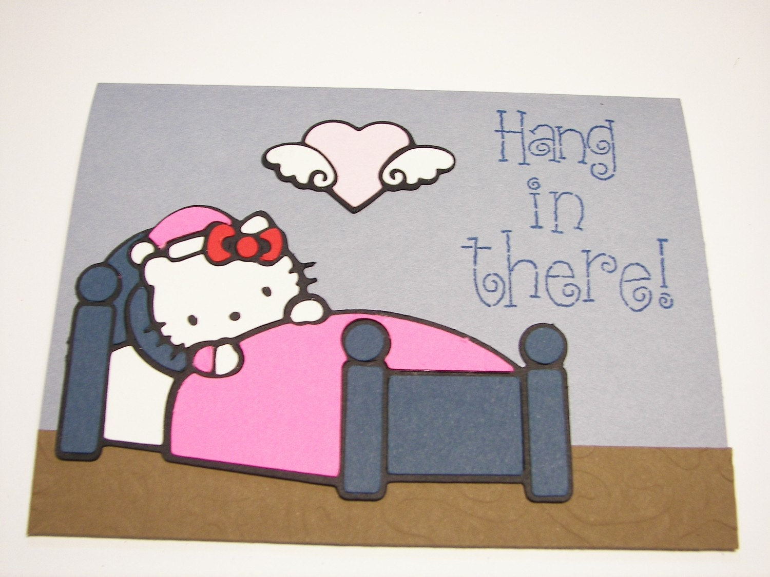 hello kitty get well soon card