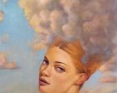 Aurora - Woman in Clouds - Print