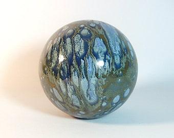 Ceramic Gazing Ball 8 inch Polaris