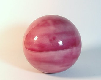 Ceramic Gazing Ball 5 inch Ultra Pink