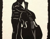 Sale 20% Off // CHARLES MINGUS Papercut - Hand-Cut Silhouette // Coupon Code SALE20