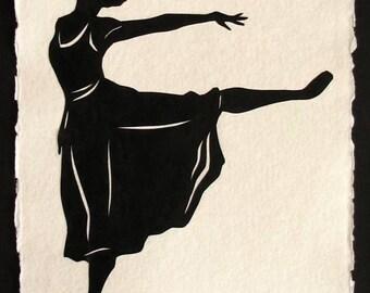 Sale 20% Off // MARGOT FONTEYN Papercut - Hand-Cut Silhouette // Coupon Code SALE20