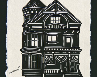 Victorian House - Hand-Cut Silhouette Papercut