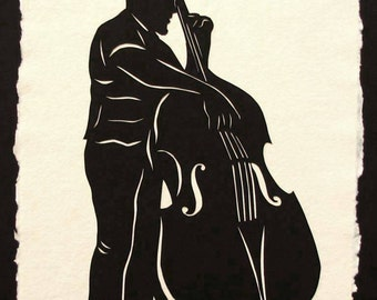 Father's Day Gift - Sale 20% Off // CHARLES MINGUS Papercut - Hand-Cut Silhouette // Coupon Code SALE20