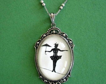 Sale 20% Off // Elvira on a Tightrope Necklace, pendant on chain // Coupon Code SALE20