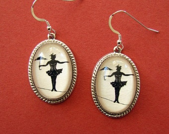 Sale 20% Off // Elvira on a Tightrope Earrings // Coupon Code SALE20