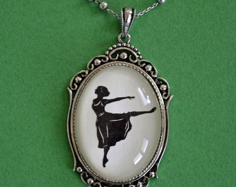 Sale 20% Off // MARGOT FONTEYN Necklace, pendant on chain - Silhouette Jewelry // Coupon Code SALE20