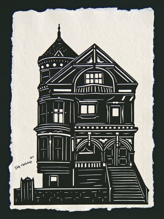 Sale 20% Off // Victorian House - Hand-Cut Silhouette Papercut  // Coupon Code SALE20