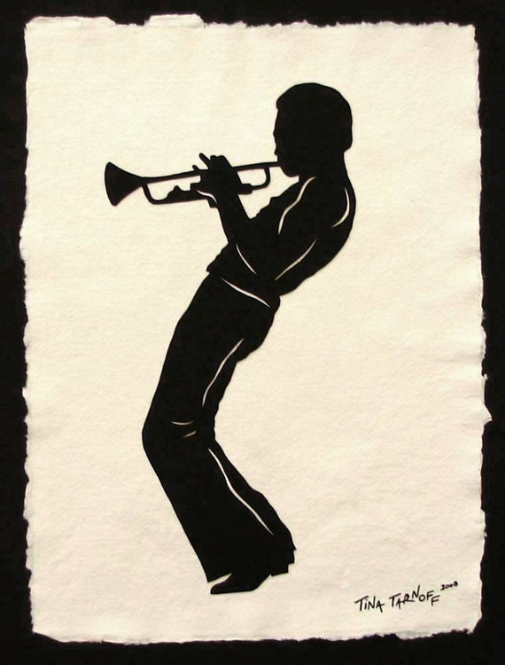 Father's Day Gift - Sale 20% Off // MILES DAVIS Papercut - Hand-Cut Silhouette // Coupon Code SALE20
