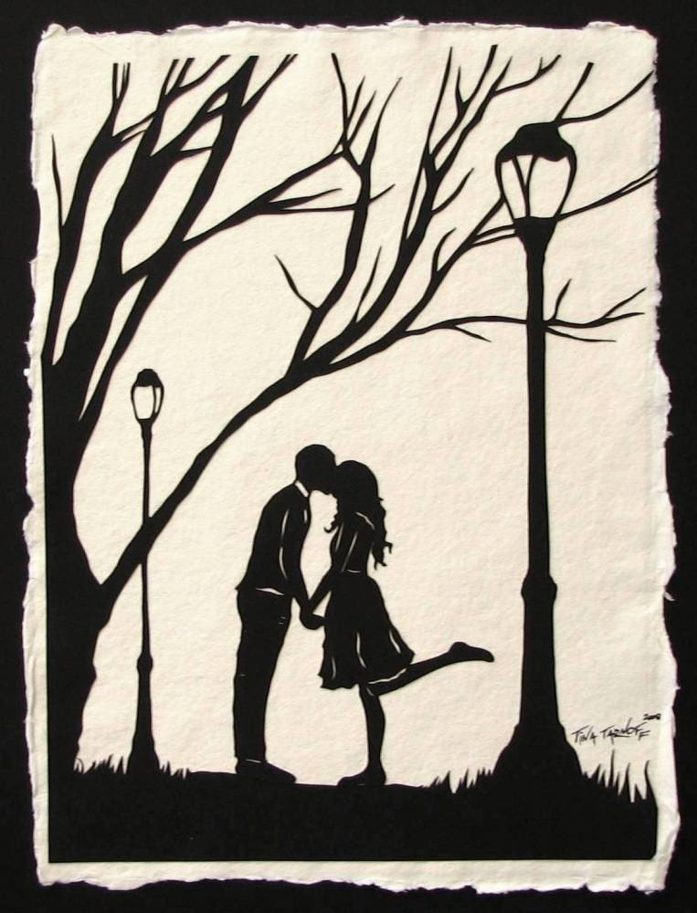 Autumn Kiss Original papercut Art