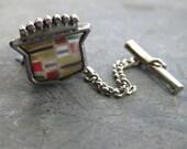 recycled CADDY CREST tietack - vintage CADILLAC