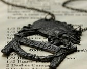 vintage BOURBON BOAR necklace -OOAK