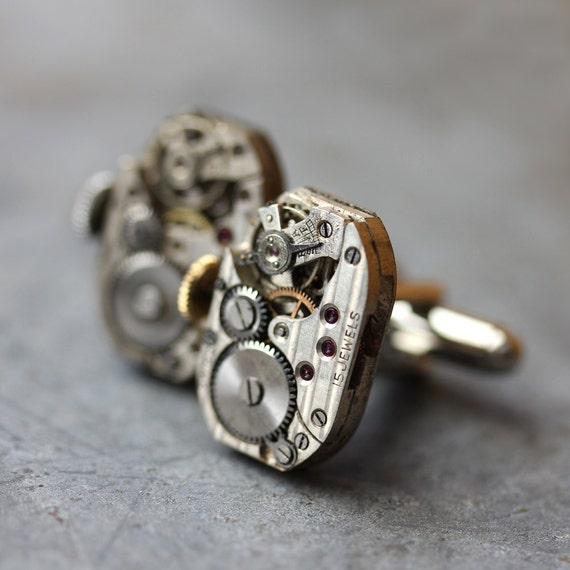 nifty FIFTIES antique Ralco STEAMPUNK cufflinks
