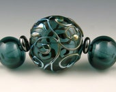 Andie's Glass - Transparent Ink Blue Focal Bead