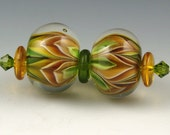 Andie's Glass - Bloom Series Gold Earring Beads