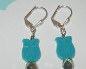 Rara Avis Plastic Owl and Crystal Earrings