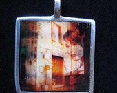 Art Pendant - Polaroid Collage  - Waiting for You to FInd Me