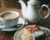 Tea - Polaroid Painting - Everything Stops for Tea
